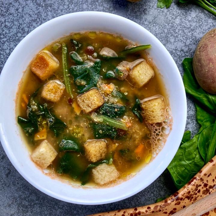 Il dopopasqua e la zuppa detox di patate ebietole